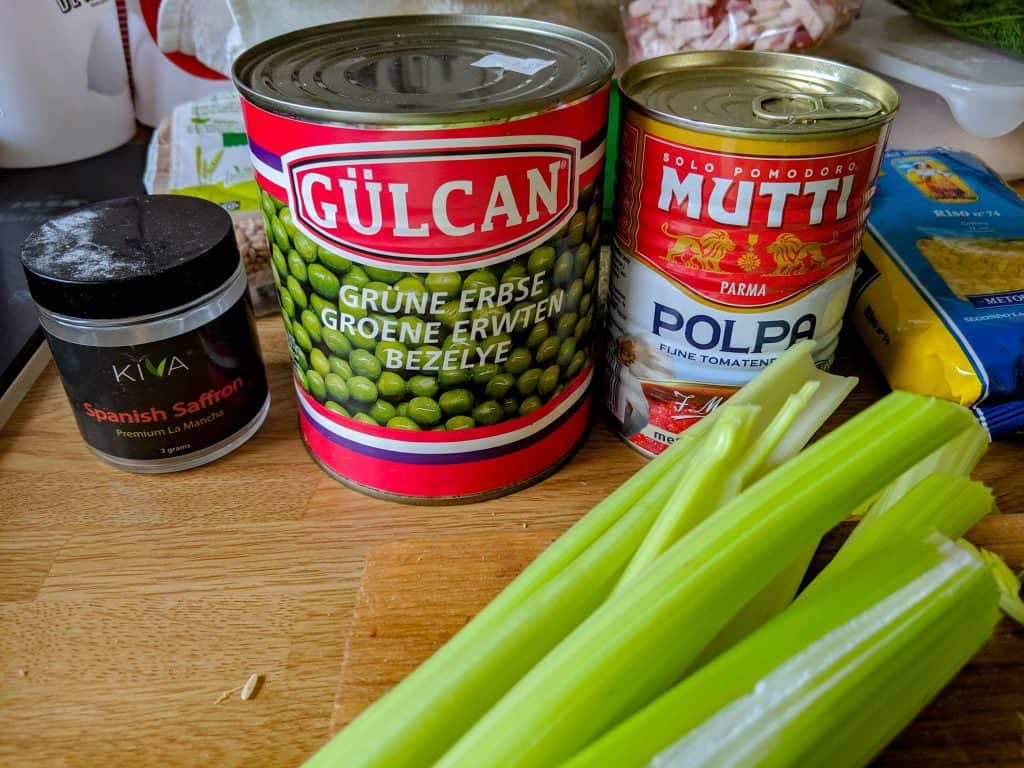 random pantry items canned green peas and tomato