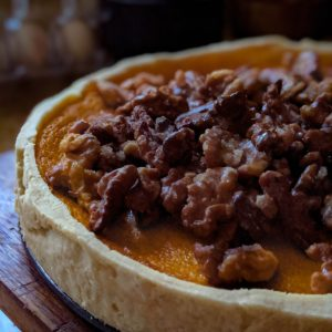 Impromptu Pumpkin & Candied Walnut Pie