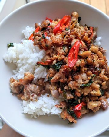 Thai chili and basil chicken