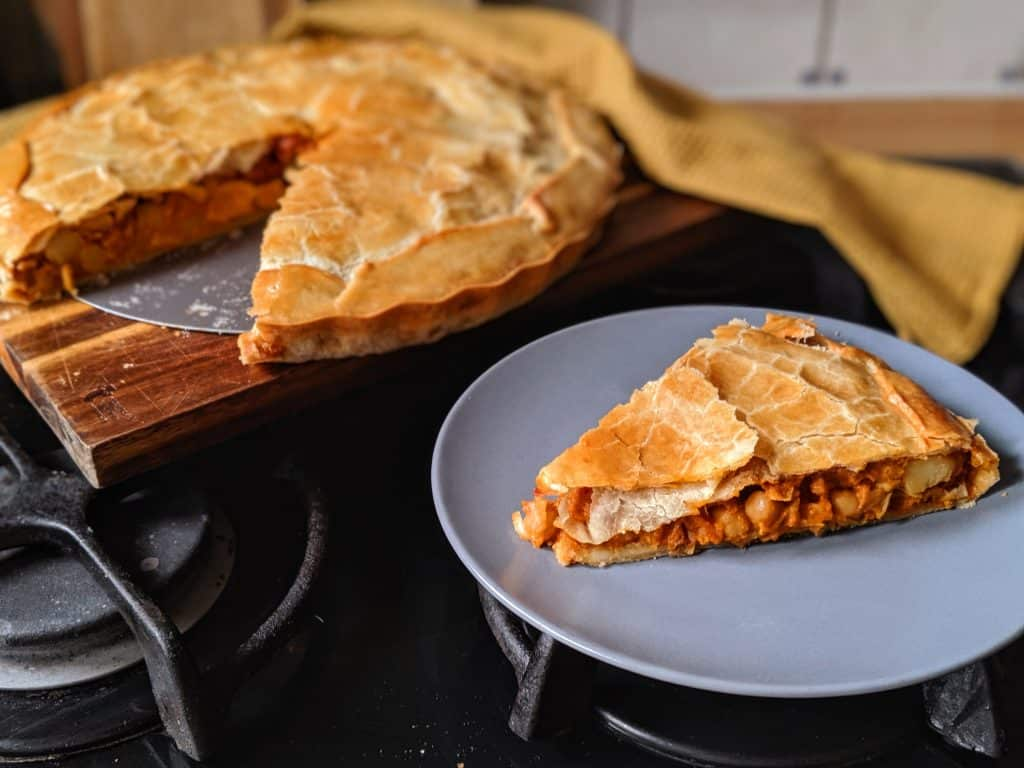 curry chickpea pie