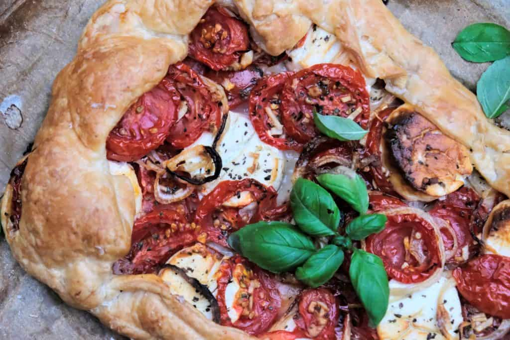 tomato and goat cheese galette