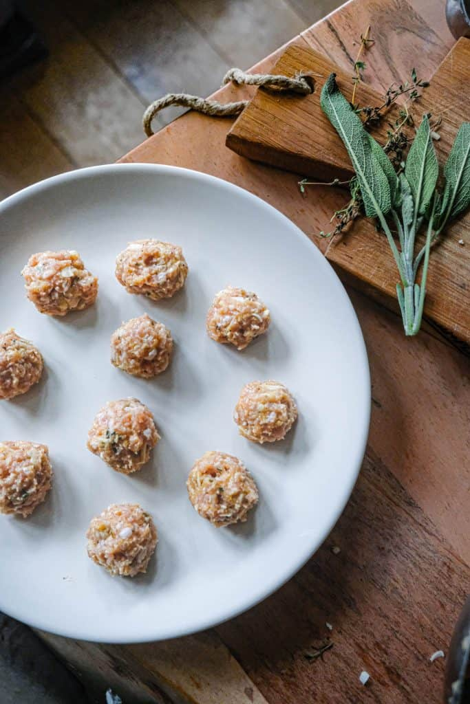chicken and sage meatballs
