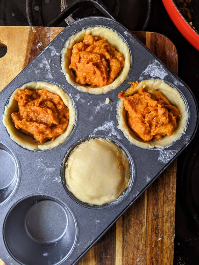 curry pie muffin tin