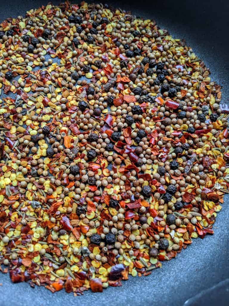 berbere whole spices before grinding