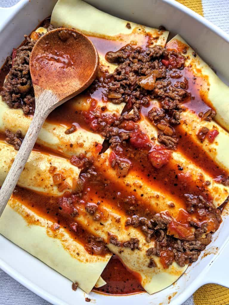 Ethiopian lasagna with homemade berbere spice blend